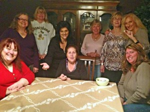 Bunco ladies are, from left, Chris Corbin, Robin Walker, Maryann Hickok, Maria Cohen, Anna DaToro, Sally Mitten, Kathy Bacon, Patty Bonelli and Amy Gerrard. (Not present are Nancy Merola, Jennifer Sizemore and Mona Cuicchi.) Photo by Donna Kupke