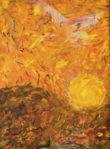 This expressionistic work is by Canyon Lake Art Association member Franco Pepe.