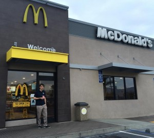 "Santa Rosa Academy junior Chris Gunter visited McDonald's in three counties to collect toys for Special Ed teacher Esther Hilleli's classroom ""Treasure Chest."""