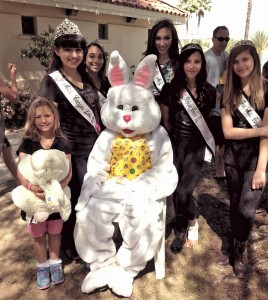 Several members of the Royal Court and  Talent Court helped with last week's Easter Carnival  at Holiday Harbor. Photo by Tammy Macias