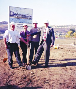 A groundbreaking for the new Lodge was held in May 2000.