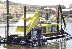 In May 2005, Canyon Lakers were invited to attend the unveiling of the community's long-awaited dredge at East Port.