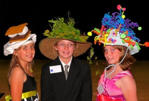 Winners in Cotillion's May 2010 Mad Hatters Ball contest were Emily Signorio, Cody Hankins and Courtney Sharkey.