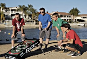 Here, Canyon Lakers play Beanbag at Indian Beach. Photo from beanbagbilliards.com