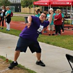 Canyon Laker Bill Loeser-VanDyke took part in the softball throw, throwing 170 feet. Photos by Pat Van Dyke