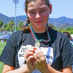 Canyon Laker Katie Woodward won a gold medal in the 50 meter run.