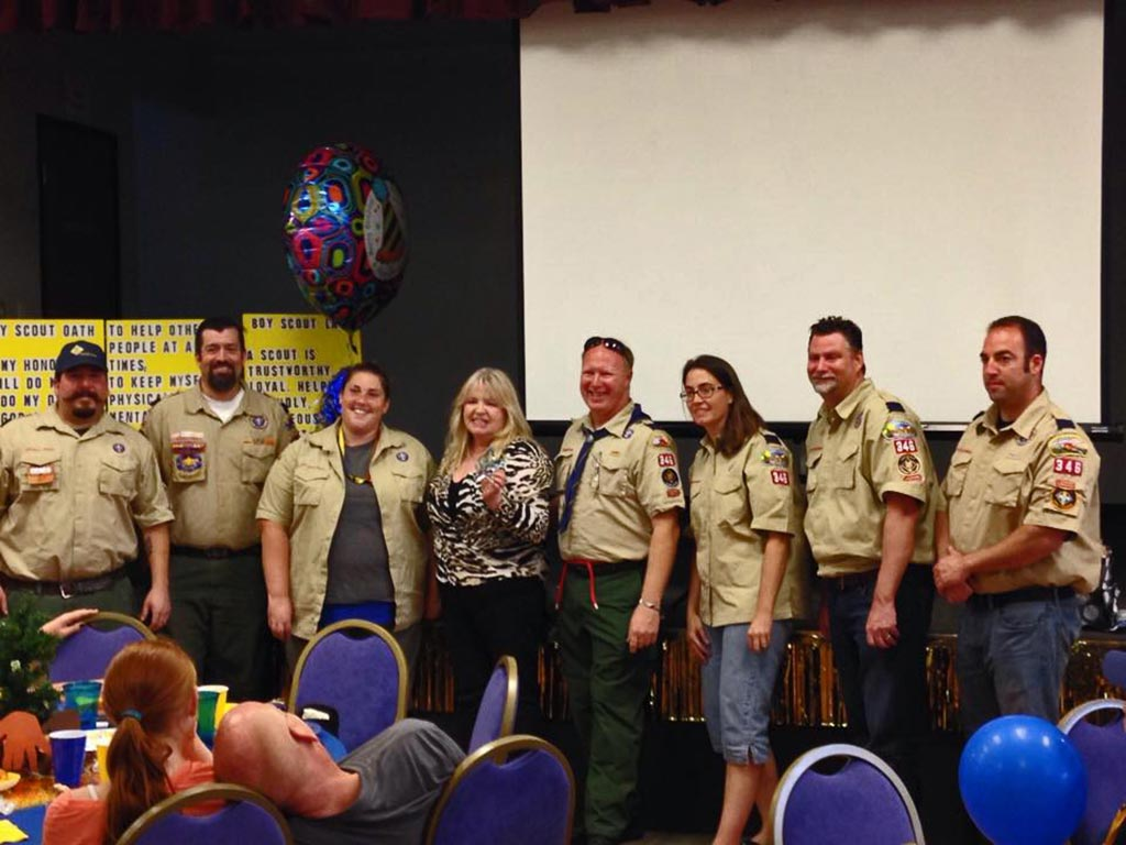 Boy Scouts Celebrate With Blue And Gold Dinner The