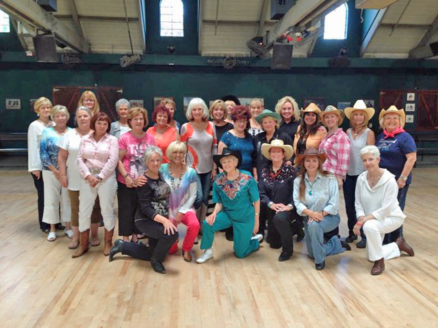 All in the community was invited to join Woman's Club members for a day of line dancing at the Stampede on June 5.