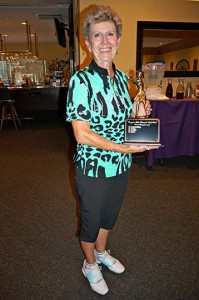Inga Loy was the overall gross winner of the Women's Senior Tournament. Photo by Linda Kamashian