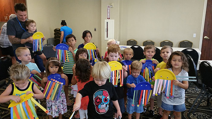 Kids Club is back in session with meetings every Tuesday and Thursday. With music, games, crafts, snacks and more, it's a fun way for the little ones to spend mornings and make new friends. Photo by Dayna Cascario