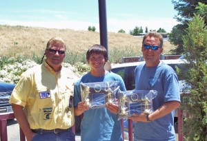 In June 2010, Matt English, 16, pictured with Jr. Bassmasters Director Sal Gervasi and Tournament Director Archie Steel, was the winner of the California Bass Federation State Junior Championship.