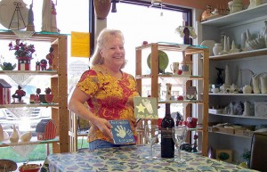 In 2005, Debby helped organize a tile-painting party at South Paw Ceramics for residents who wanted to paint tiles for a wall at the Tennis Courts. Photo by Marti Norris.