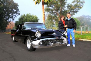 Joe says his 1957 Olds 88 with a K-2 high performance motor is his favorite car. Photo by Anthony Ganci.