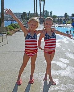 The 4th of July was a red, white and blue day for many Canyon Lake kids. Photo by Donna Kupke.