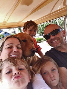 Kerry Keith and her family have been involved with the community since the 1970s. She is pictured with her husband Ted, son Zander, 8, daughter Mackenna,10, son Tanner,13 and their Golden Retriever. Photos provided by Kerry Keith