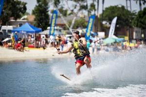 Tony Klarich rides a paddle