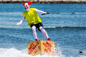Tony Klarich rides a crate