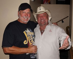 Concert promoter Doug Schultz, at left, a Canyon Lake resident, is pictured with his friend, Johnny Lee. Doug promoted the concert free of charge and Johnny reduced his fee as a personal favor to Doug.
