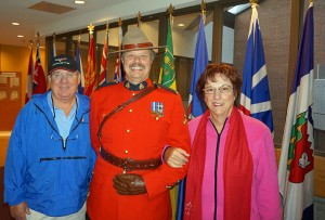 They also visited the Royal Canadian Mounted Police Horse Training Center.