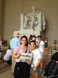 While in Washington DC, cousins Alexa McKee and Nicole Allen visited the Lincoln Memorial, among other tourist destinations.