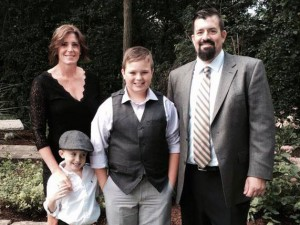 Mike Heider is pictured with his wife and sons: Danielle, Casey and Brody.