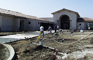 In October 2000, construction was finishing up on the new Lodge.