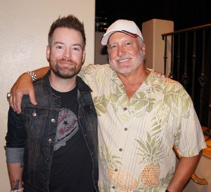 David Cook is pictured with concert promoter and Canyon Lake resident Doug Schultz. Photo by Donna Ritchie.