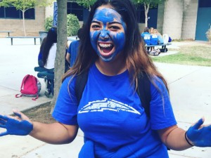 "The Homecoming Week theme on Friday was ""Ballistic Blue"" day. Photos provided by TCHS ASB"