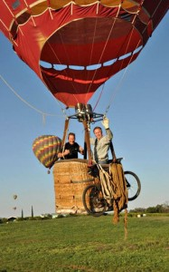 Dee Johnson and Mike Stout fire up one of their Skyline Balloons to take flight over Temecula Wine Country. Photos provided by Mike Stout.