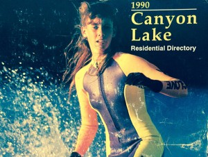 World class water ski champion Rhoni Barton was on the cover of the 1990 Residential Directory.