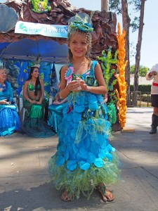 Cambria Dalton won 1st place in the younger division of the Mermaid Costume Contest.
