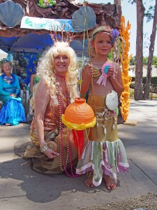 Zoey Carroll won 2nd place in the costume contest and is pictured with helper mermaid Jayne Stanyon. Photos by Donna Kupke