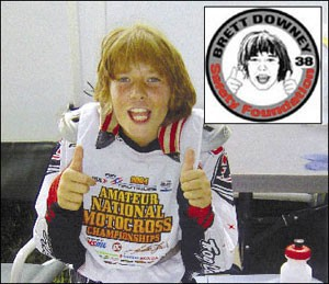 Brett Downey was killed at the age of 11 when he was hit by another rider after falling during a race where there were no flaggers to warn oncoming riders.