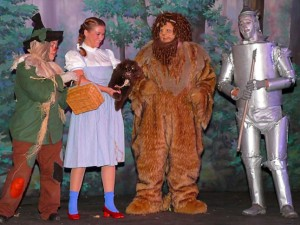 "Caitlin and Chris Vecchione will be two of the featured singers in ""Musical Memories."" Here they are pictured as Dorothy and Lion in the 2011 CLCT production of ""The Wizard of Oz.""  Photo by Bert Barbay."