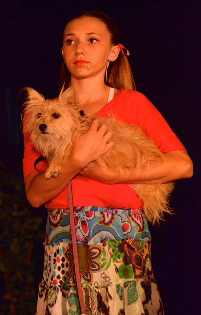 Lexi Plasch played the part of Molly, Pippa was the dog.