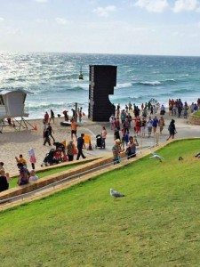 Diane says the giant sculptures at an art exhibit on Cottesloe Beach, Perth were magnificent.