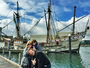 Diane, sister Leslie and brother-in-law Mark enjoyed the sights in the port of Albany.