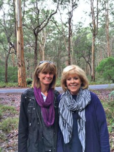 Sisters Leslie and Diane live halfway around the world from each other.