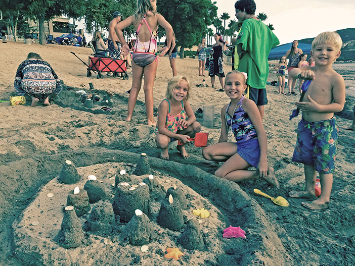 The Family Matters Club held its monthly meeting at Taco Tuesday and sponsored a sand castle building contest. This was the 1st place castle.