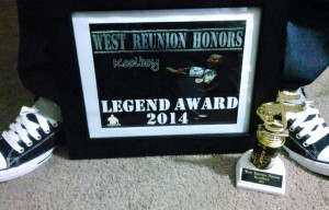 "Koolboy is the first dancer to receive the West Coast Reunion Honors ""Legend"" Award."