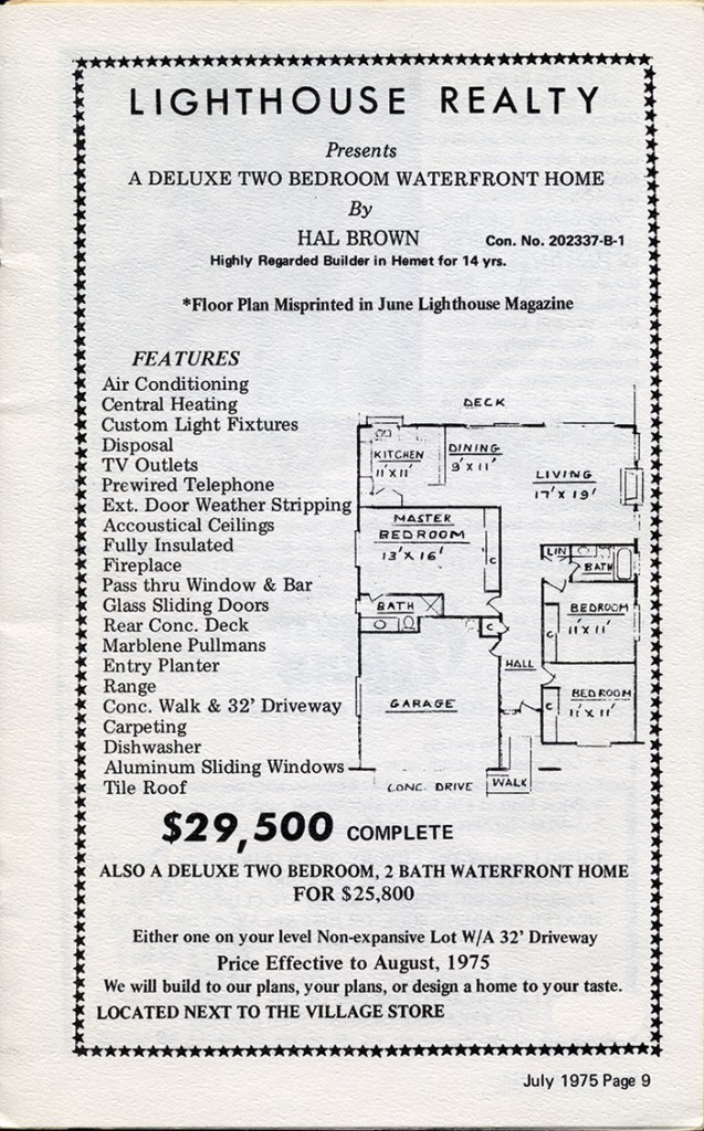 In 1975, this ad in The Lighthouse Magazine advertised a home in Canyon Lake for $29,500.
