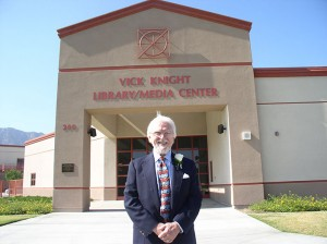 In November 2005, Vick Knight was pictured at the formal dedication of the Vick Knight Community Library and Media Center located at Lakeside High School.