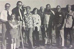 The February 1976 issue of the Lighthouse Magazine featured this picture of the groundbreaking for Canyon Lake Community Church.