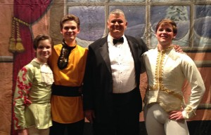 """Mark Bryant is pictured with his sons Reid, Pierce and Reagan at """"The Nutcracker"""" play this past Christmas at Temecula Valley High School."""