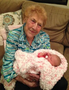 Elaine Sanderson recently had heart surgery on her 96th birthday. She and her great-granddaughter share the same birthdate.
