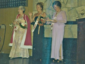 Elaine, at left, was crowned Mrs. Canyon Lake in 1980.