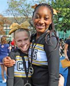 Canyon Lakers Zoie VonMoos and Serwaa Asafu-Adjaye won medals for best toe touches.