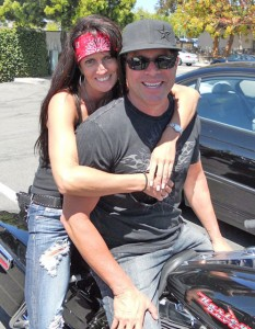 Riding their Harley is a favorite pastime for Shannon and her boyfriend, Dave Garcia.