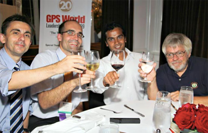 Tom Nagle, at right, is pictured in 2009 at the GPS World Leadership Dinner in Georgia.