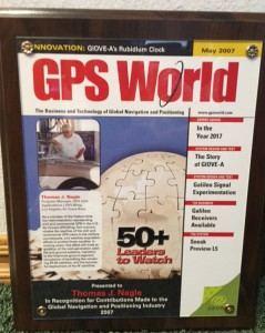 "Tom was featured on the cover of the May 2007 ""GPS World"" trade journal."